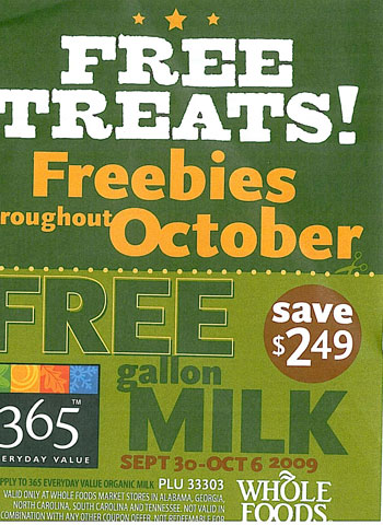 Whole Foods Freebie Flyer :: Southern Savers