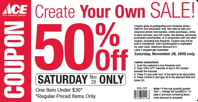 ace hardware coupons 50% off