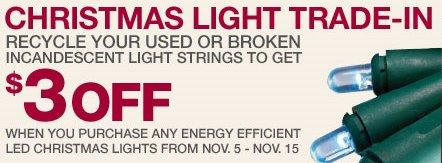 Home Depot: Christmas Light Trade In Event U2013 Get U201c$u201d3 Coupon