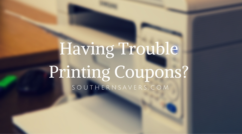 Having Trouble Printing Coupons-