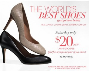 graphic regarding Anne Taylor Printable Coupons identify Ann Taylor: $20 off $20 Sneakers! :: Southern Savers