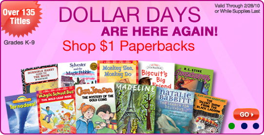 Heads up teachers and homeschool parents, Scholastic Warehouse has some great sales coming up! Scholastic Warehouse is running a Dollar Days Sale in February and you'll find great discounts on textbooks, hardbacks, paperbacks, and even school supplies.