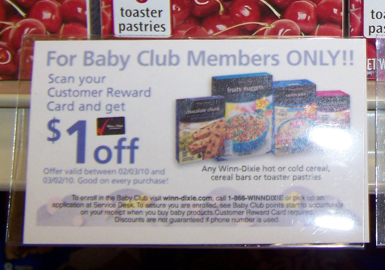 winn dixie u0026 39 s baby club  free coupons     southern savers