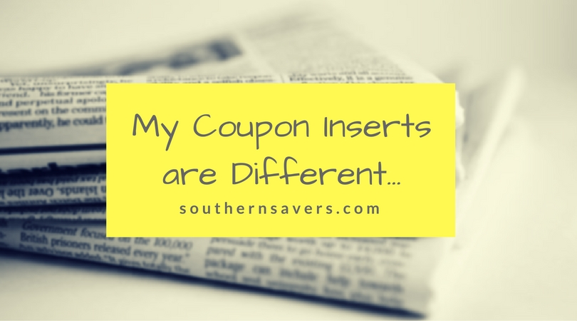 My Coupon Inserts are Different...