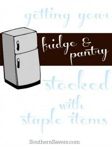 Save money by keeping your fridge & pantry stocked with all of the staple items.