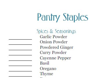 pantry-staple-items-list