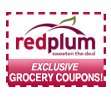 Red plum coupons mailed to you