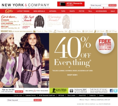 New York & Company Coupons & Free Shipping Codes. When you shop with a coupon or free shipping code for New York & Company, you're sure to get a discount on a .
