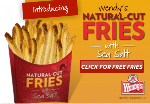Wendy's: Free Natural Cut Fries Coupon :: Southern Savers