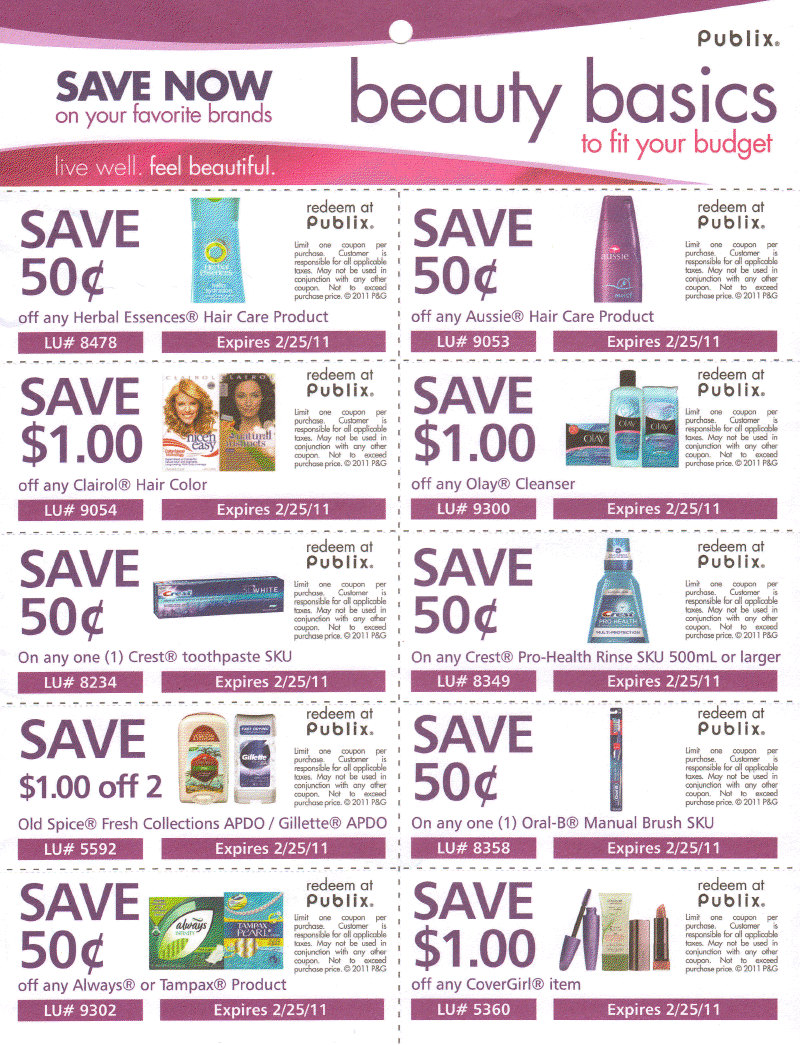 Discount beauty coupons