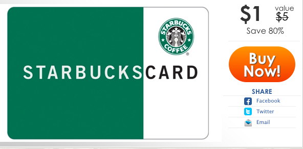 $5 Starbucks Gift Card for $1 :: Southern Savers
