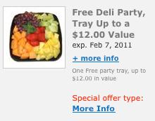Kroger Free ECoupon Party Tray