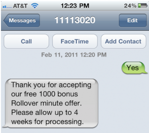 AT&T 1000 Free Rollover Minutes