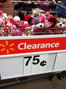 but on a different note there were some great valentines day clearance sales the stuffed animals were all 75 and could easily be packed into an - Walmart Valentines Stuffed Animals