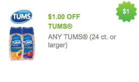 graphic regarding Tums Printable Coupon named Redplum Contemporary Printable Discount codes: Nutella, Ball Park, Tums +