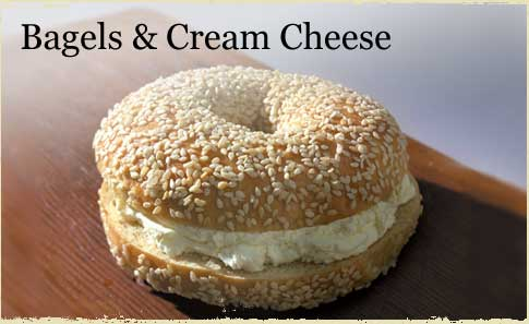 calories bagel with cream cheese