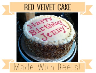 Looking for a new, healthier way to make Red Velvet Cake?!  Try substituting all of that food coloring for beets!  It tastes even more delicious and you can't taste the beets at all.