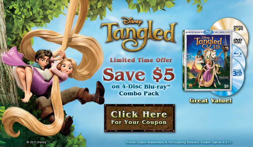 $4 off Tangled