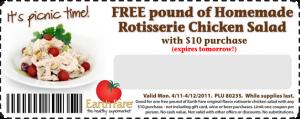 earth fare free chicken salad