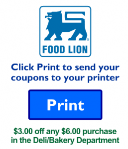 Food Lion Deli/Bakery Coupon