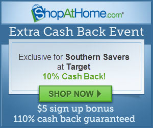 Target.com 10% cash back through Shopathome.com