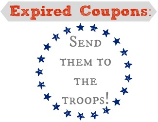 Looking for something to do with your expired coupons?  Send them to the troops!
