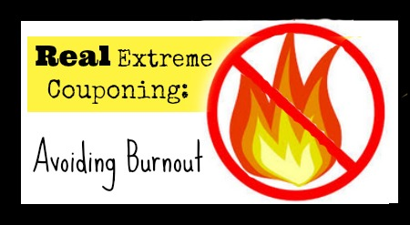 How to avoid getting burnt out on couponing.