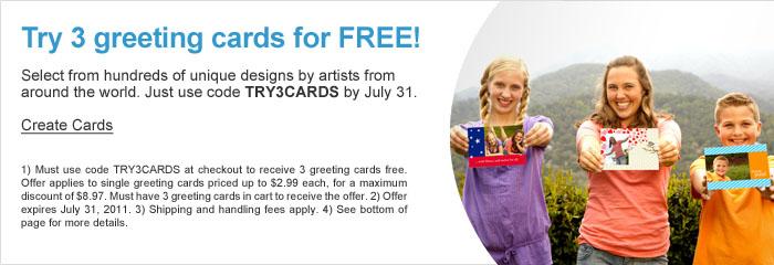 Snapfish Greeting Cards 3 Free