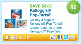 Make breakfast fun with these coupons for Pop-Tarts. Enjoy all the exciting flavors like Gone Nutty Peanut Butter, Choclate Chip Cookie Dough and Wildilicious Wild! Berry. With these coupons for Pop-Tarts, you'll always save on these breakfast pastries that delight both kids and adults.
