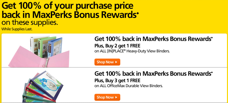 OfficeMax Free after Rewards
