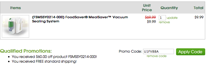 Food Saver Coupon Code
