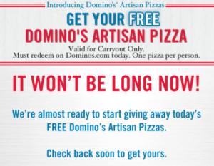 Free Domino's Artisan Pizza