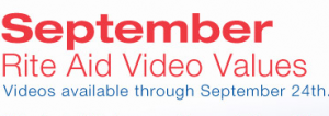 September Video Values Coupons
