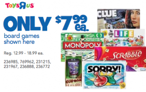 Toys R Us Hasbro Games Coupons