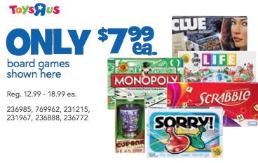 Toys R Us Sale On Hasbro Games Southern Savers