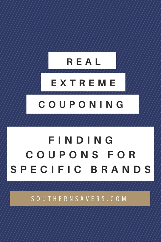 Finding coupons for specific brands