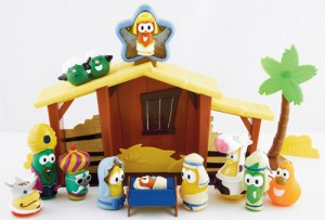 Veggie Tales Nativity Playset