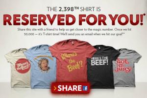 Wendy's TShirt Giveaway