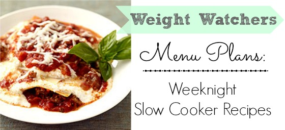 Weight Watchers Menu Plan | Super easy menu plans using your slow cooker.  The best part: they have low Points Plus values!