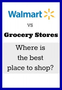 Is it really cheaper to but things at Walmart instead of using great coupons at regular grocery stores?  Where do you save the most money?