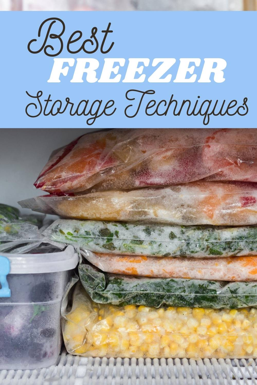 Utilizing your freezer is a great way to stretch your food budget and make your time in the kitchen easier. Here is my list of the best freezer techniques!