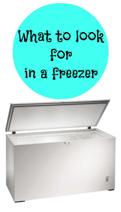what to look for in a freezer