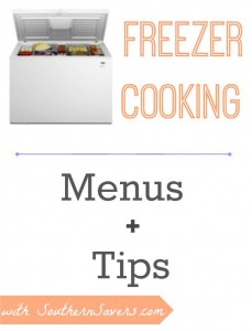 Start saving money in the kitchen my freezer cooking.  Here are some freezer menus and tips.