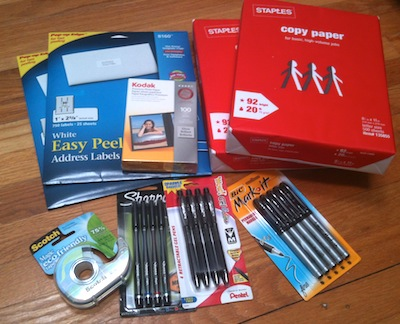 Free Office Supplies at Staples