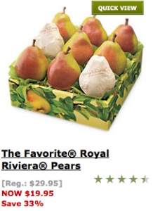 Harry and David Coupon Royal Riviera Pears