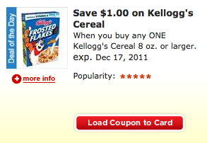 Kroger eCoupon Kelloggs Cartbuster