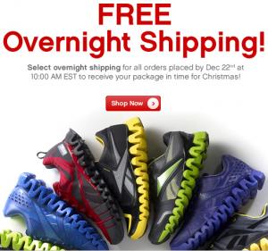 Reebok free shipping