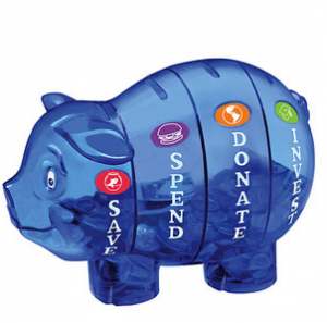 Teach Kids to Save Piggy Bank