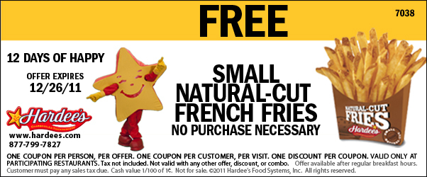 photograph regarding Hardee's Printable Coupons titled Cafe Discount coupons: Hardees, Pilot, Waffle Household, Excess