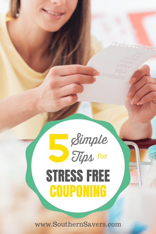 Couponing can seem like a sea of abbreviations and lots of math, but it's not as hard as you think. Check out these 5 simple tips for stress free couponing!